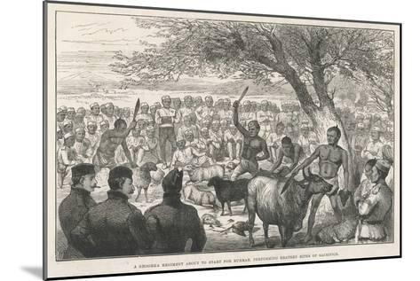 Battalion of Ghurka Soldiers En Route to Burma Offering Sacrifices to Drive Away Cholera--Mounted Giclee Print
