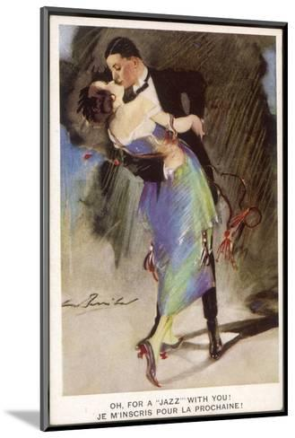 Oh for a Jazz with You!, Two Dancers Kiss as They Dance--Mounted Giclee Print