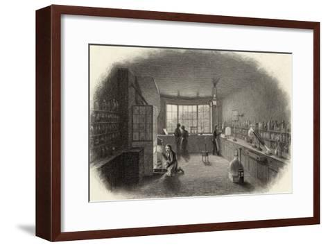 Scientists at Work in a Laboratory--Framed Art Print
