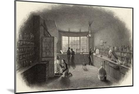 Scientists at Work in a Laboratory--Mounted Giclee Print