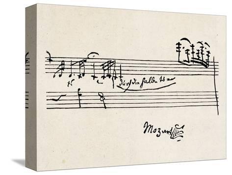 Cadenza, with Mozarts Signature--Stretched Canvas Print