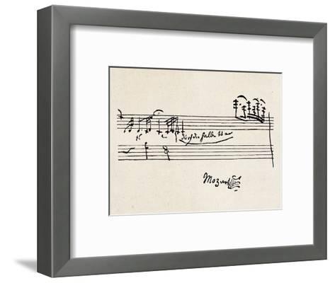 Cadenza, with Mozarts Signature--Framed Art Print