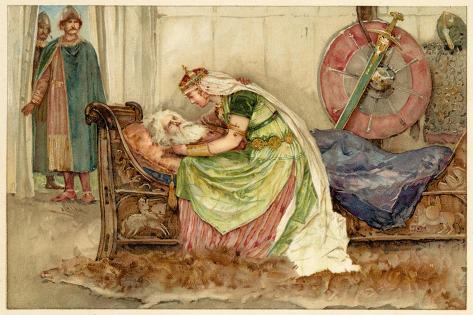 King Lear, Act IV Scene VII: Cordelia to Lear--Stretched Canvas Print