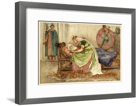 King Lear, Act IV Scene VII: Cordelia to Lear--Framed Art Print