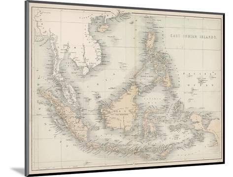 Map of the East India Islands--Mounted Giclee Print