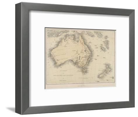 Map of Australia and New Zealand Giclee Print by | Art.com