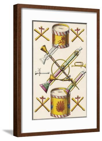 Toy Musical Instruments Including Drums and Horns--Framed Art Print