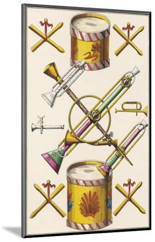 Toy Musical Instruments Including Drums and Horns--Mounted Giclee Print