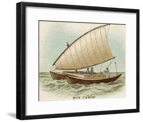 Sailing Catamaran Canoe Used in Fiji--Framed Art Print