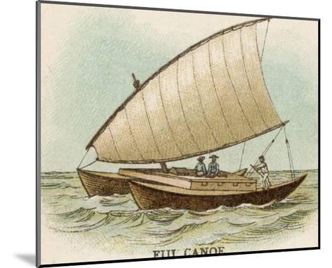 Sailing Catamaran Canoe Used in Fiji--Mounted Giclee Print