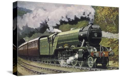 """The London and North Eastern Railway's """"Flying Scotsman"""" Express--Stretched Canvas Print"""