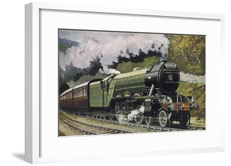 """The London and North Eastern Railway's """"Flying Scotsman"""" Express--Framed Art Print"""