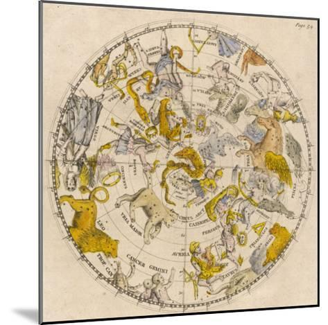 Sky Chart Showing the Signs of the Zodiac and Other Celestial Features--Mounted Giclee Print