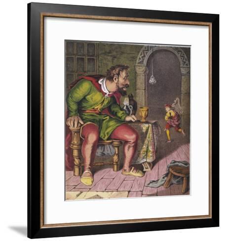 Jack Runs off with the Giant's Harp--Framed Art Print
