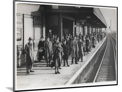 Platform Full of Commuters Wait for the London Waterloo Train Service During the Morning Rush Hour--Mounted Giclee Print