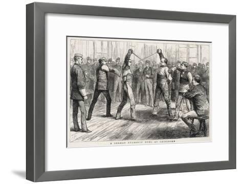 German Student's Duel at Gottingen--Framed Art Print