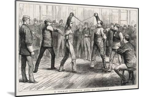 German Student's Duel at Gottingen--Mounted Giclee Print
