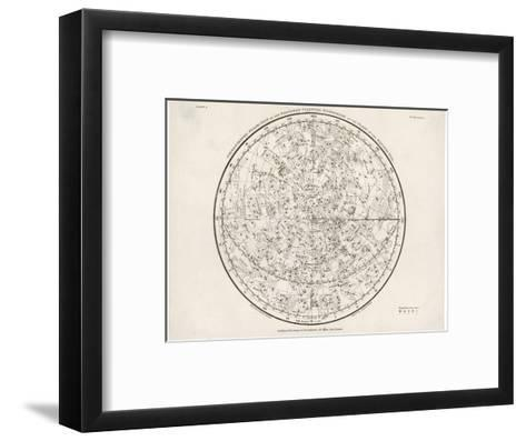 The Northern Hemisphere Including the Signs of the Zodiac--Framed Art Print