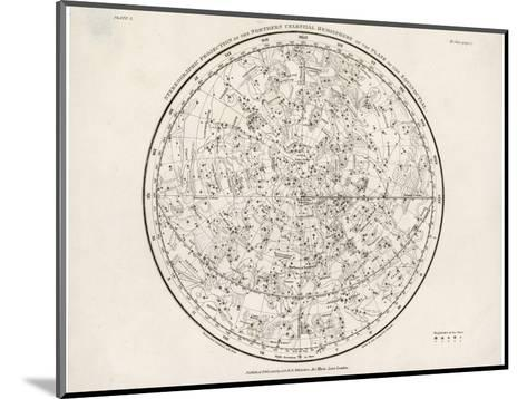 The Northern Hemisphere Including the Signs of the Zodiac--Mounted Giclee Print