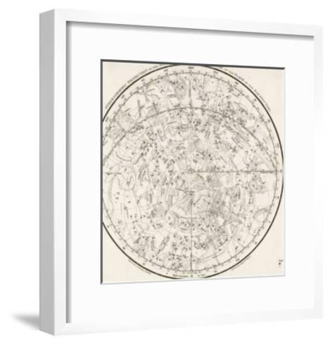 The Southern Hemisphere with Its Zodiac Signs--Framed Art Print