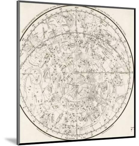 The Southern Hemisphere with Its Zodiac Signs--Mounted Giclee Print