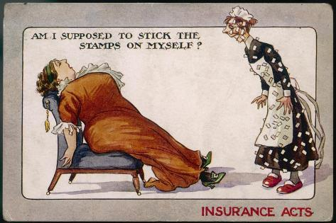 Comment on Lloyd George's National Insurance Act--Stretched Canvas Print
