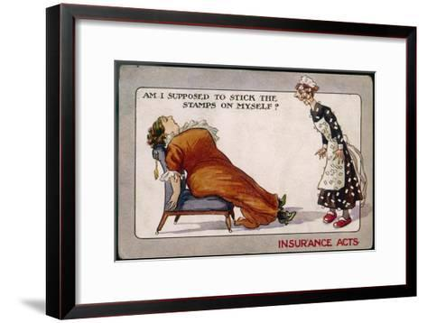 Comment on Lloyd George's National Insurance Act--Framed Art Print