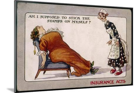 Comment on Lloyd George's National Insurance Act--Mounted Giclee Print