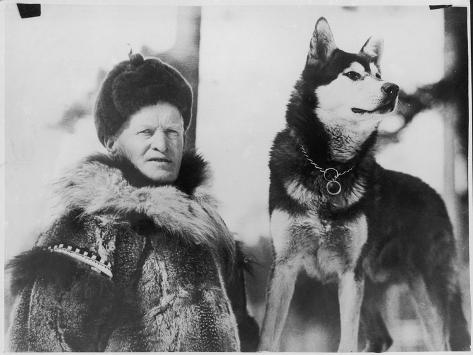 Alec Allan Scotsman Best Known for Training Sled-Dogs for Work and Racing--Stretched Canvas Print