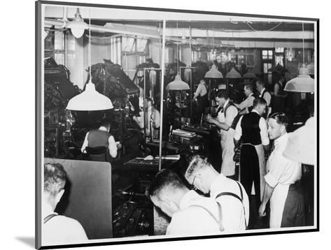Busy Newspaper Office--Mounted Giclee Print