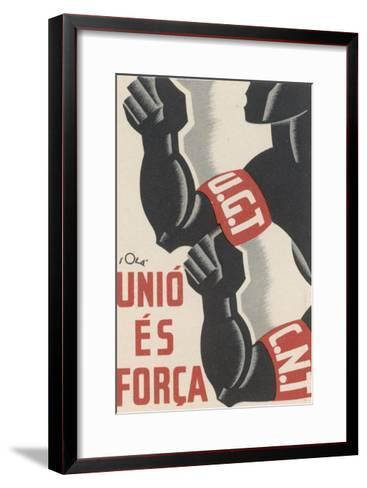 The Ugt and Cnt Unite, for Unity is Strength--Framed Art Print