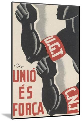 The Ugt and Cnt Unite, for Unity is Strength--Mounted Giclee Print