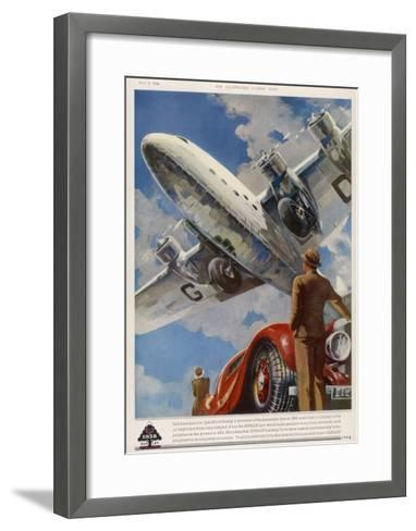 """An Armstrong Whitworth """"Ensign"""" of Imperial Airways Takes Off--Framed Art Print"""