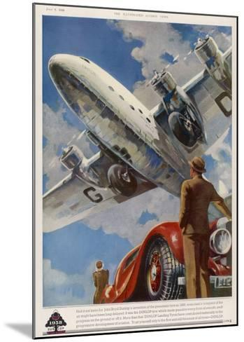 """An Armstrong Whitworth """"Ensign"""" of Imperial Airways Takes Off--Mounted Giclee Print"""