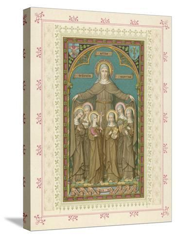 Saint Clare and Sisters--Stretched Canvas Print