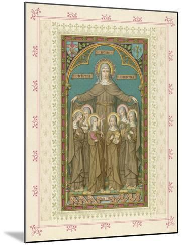 Saint Clare and Sisters--Mounted Giclee Print