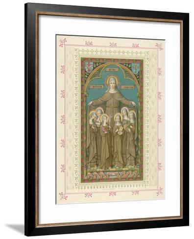 Saint Clare and Sisters--Framed Art Print
