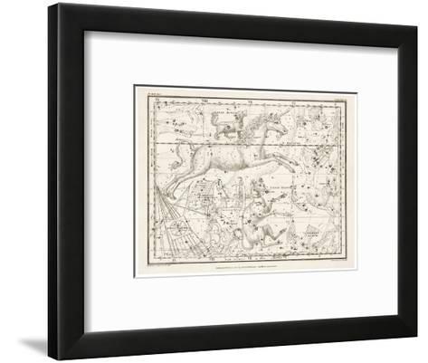 Canis Major (Dog) and Lepus (Hare) Constellation--Framed Art Print
