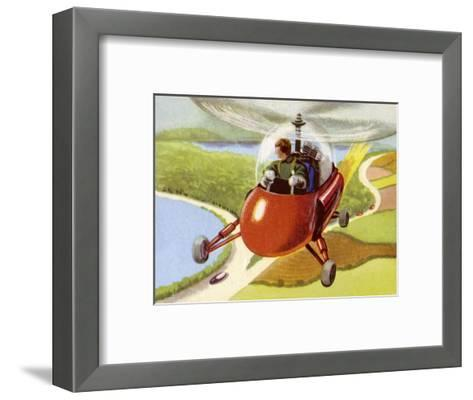 Personal Helicopter--Framed Art Print
