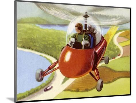 Personal Helicopter--Mounted Giclee Print