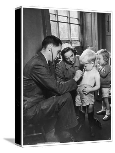Medical Examination 1940--Stretched Canvas Print