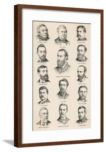The Leaders of the Irish Parliamentary Party Including Charles Stewart Parnell--Framed Art Print