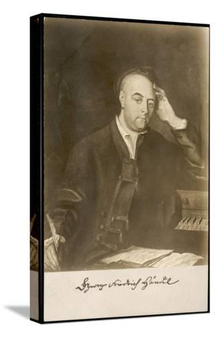 George Frederic Handel German-English Musician. with Signature--Stretched Canvas Print