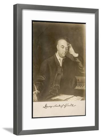 George Frederic Handel German-English Musician. with Signature--Framed Art Print