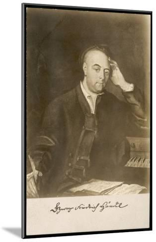 George Frederic Handel German-English Musician. with Signature--Mounted Giclee Print