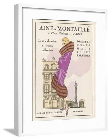 Smart Winter Coat by Aine- Montaille of the Place Vendome--Framed Art Print