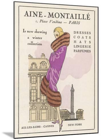 Smart Winter Coat by Aine- Montaille of the Place Vendome--Mounted Giclee Print