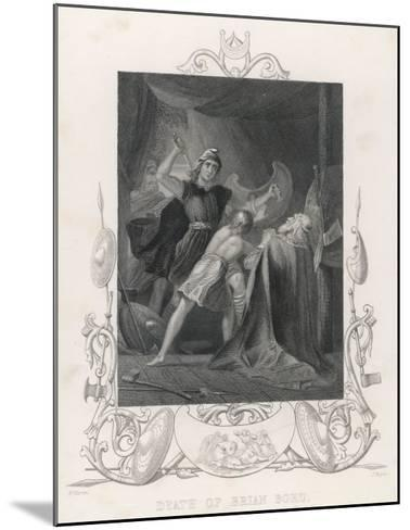 After the Battle of Clontarf Brian Boru is Killed by Brodar a Dane-H. Warren-Mounted Giclee Print