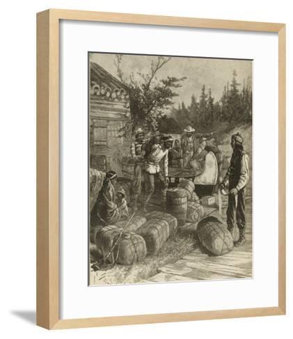Trading Post of the Hudson's Bay Company Canada--Framed Art Print