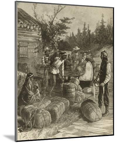 Trading Post of the Hudson's Bay Company Canada--Mounted Giclee Print